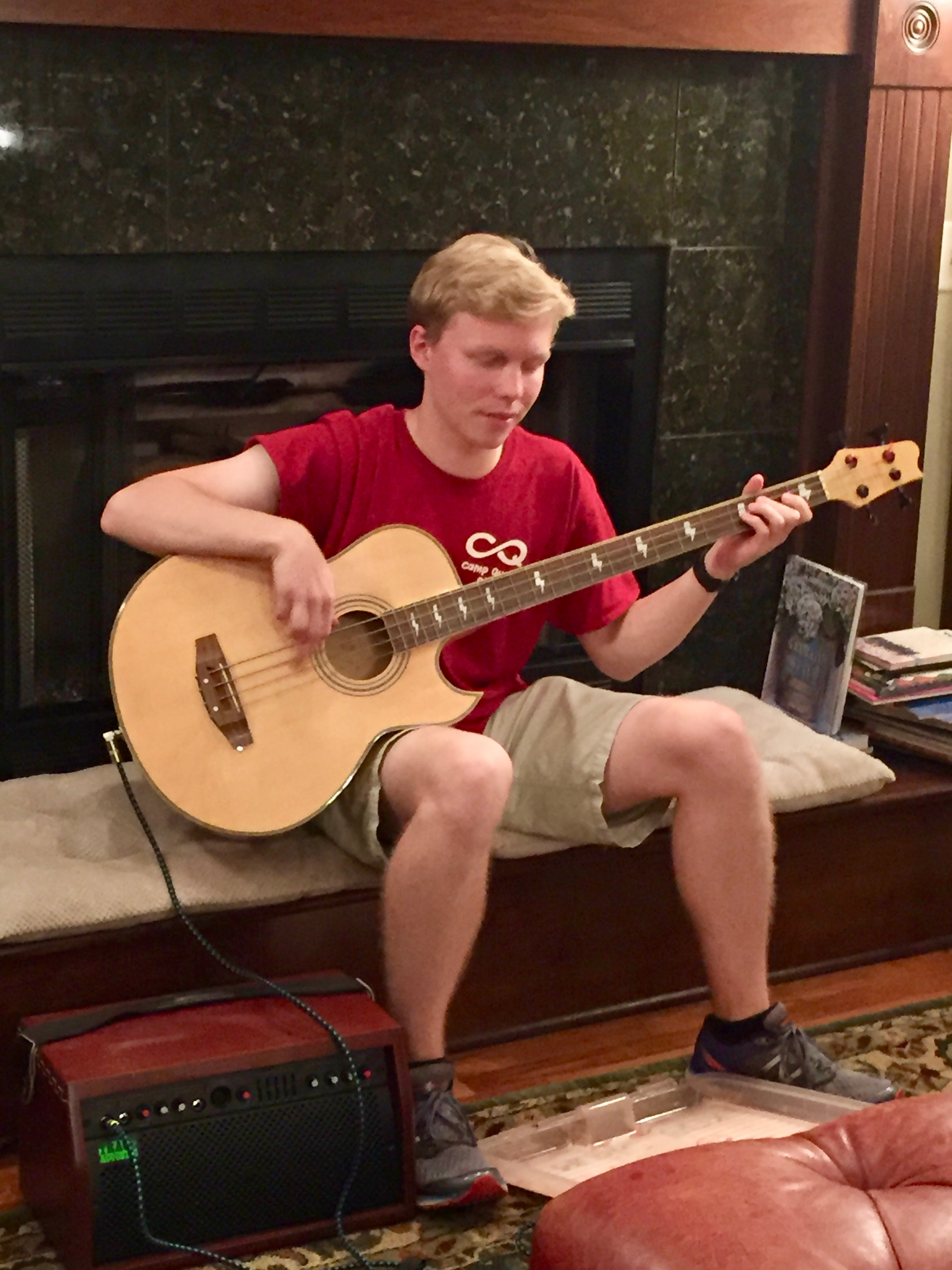 Aidan on the bass