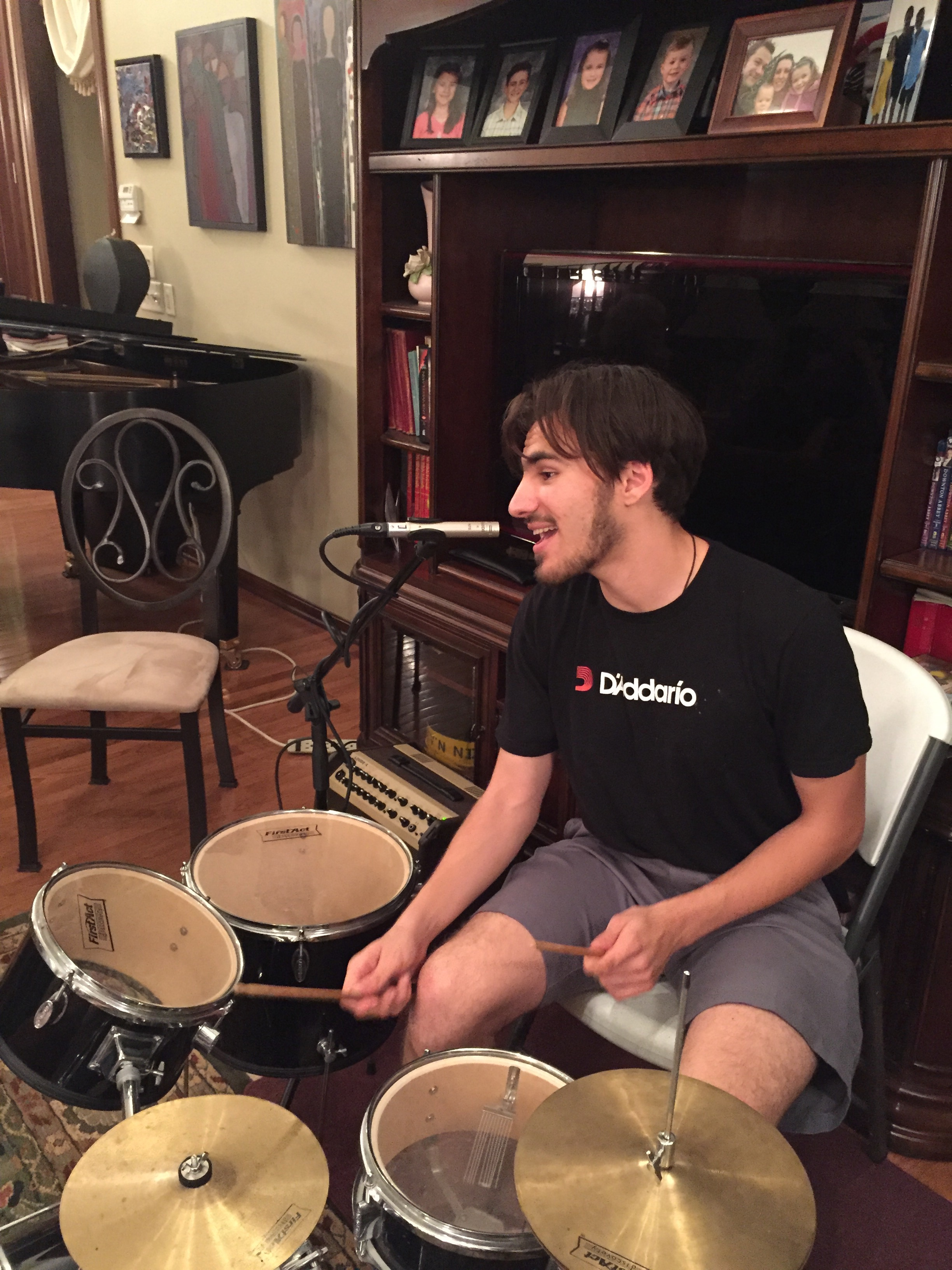Mohit sings one while drumming