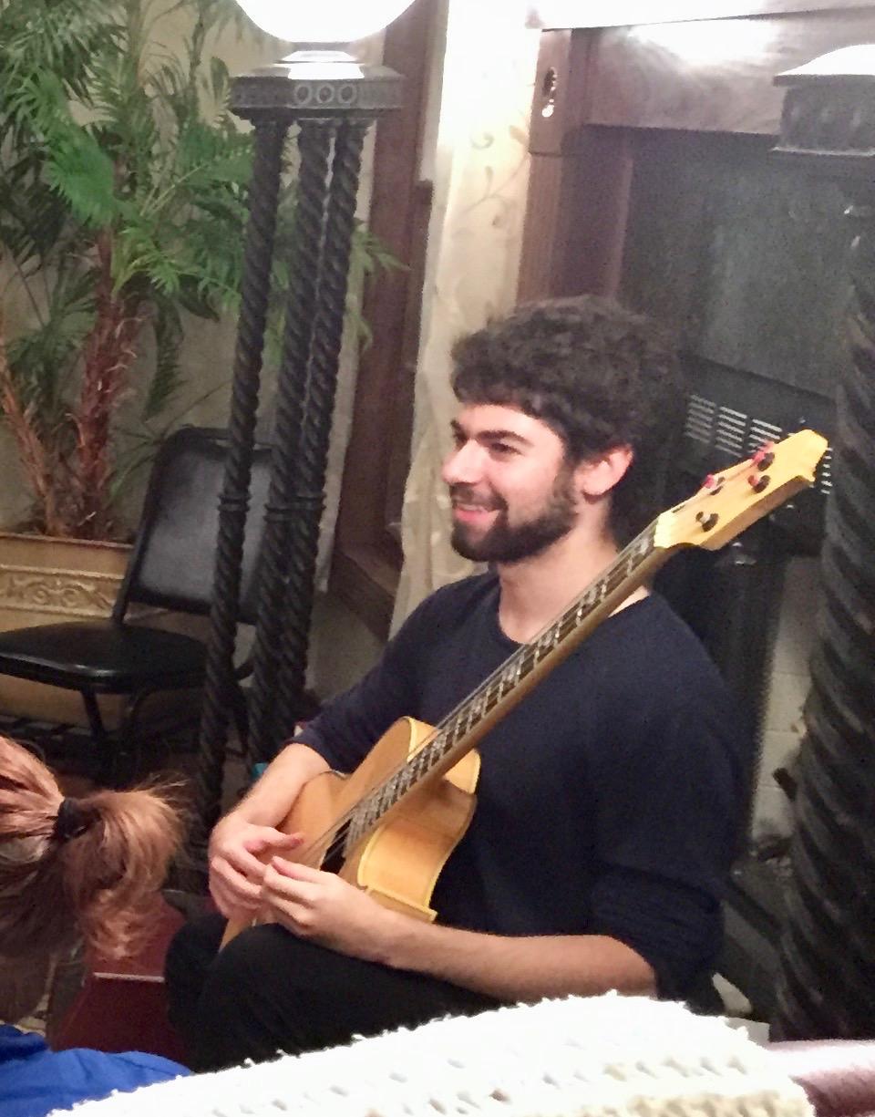 Collin on the bass
