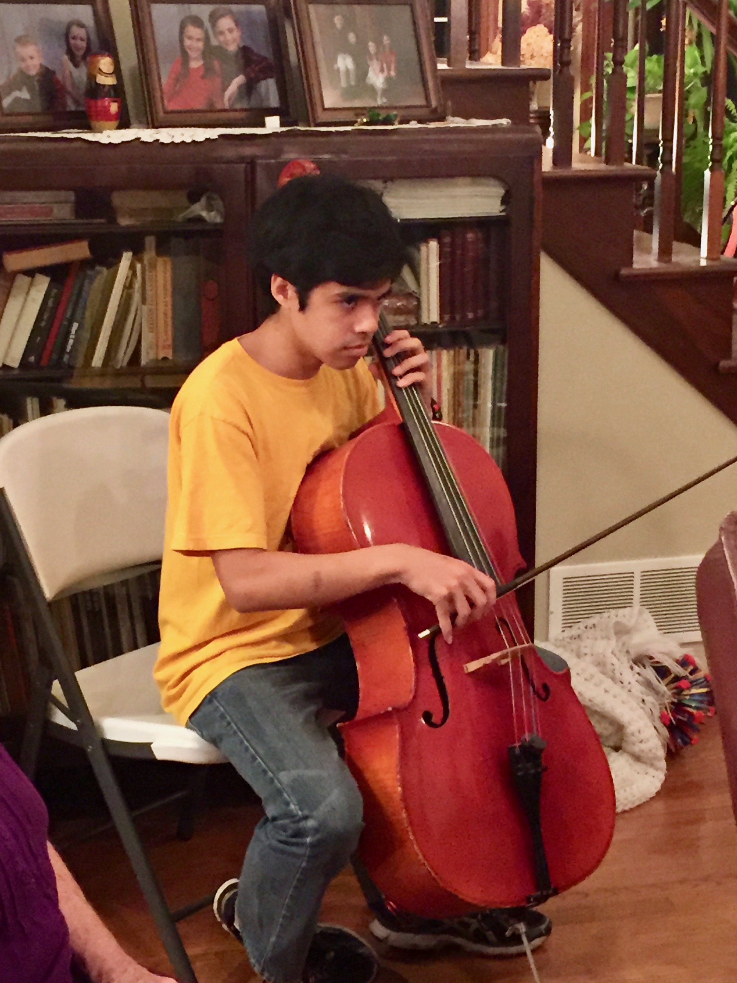 Archie on the cello
