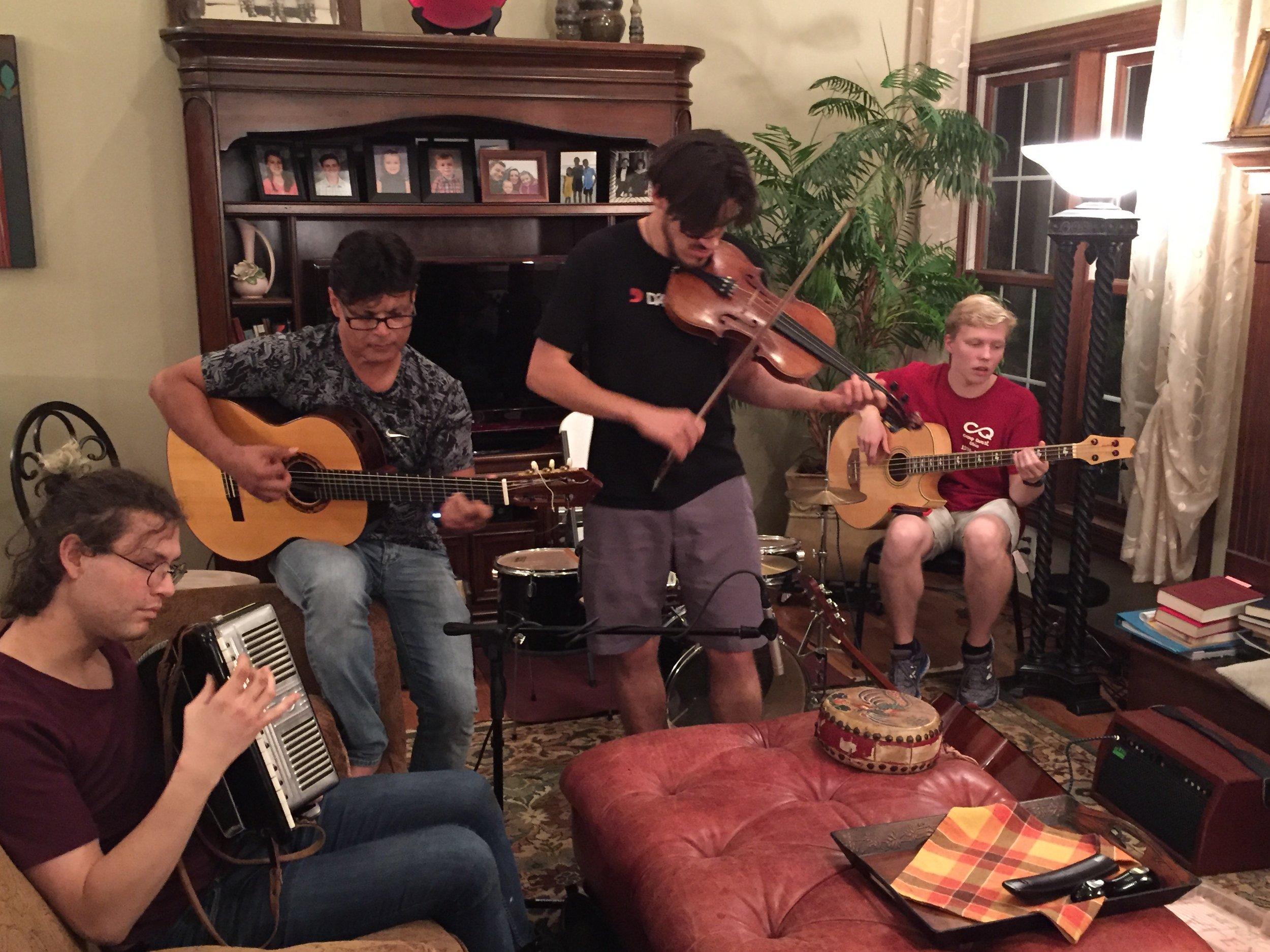 Julia, Mir, Mohit and Aidan