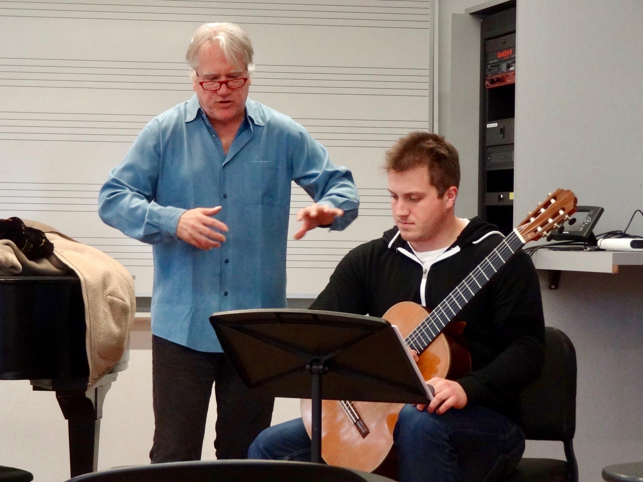 Senior, Stephen Fazio played a variations set by Luigi Legnani.