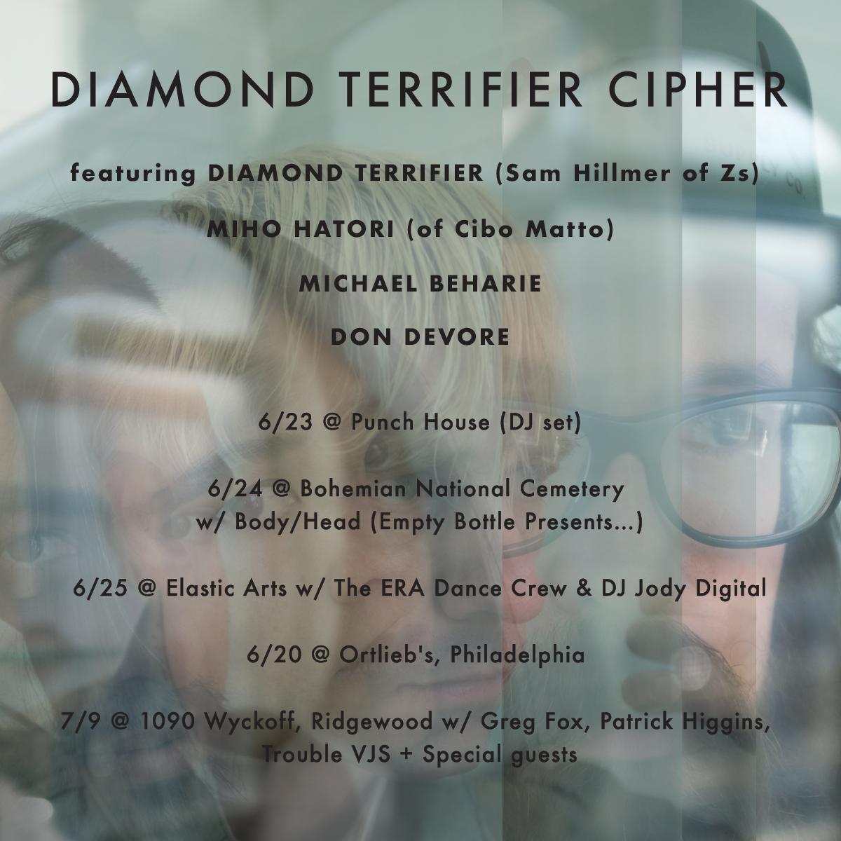 Diamond Terrifier Cipher tour poster