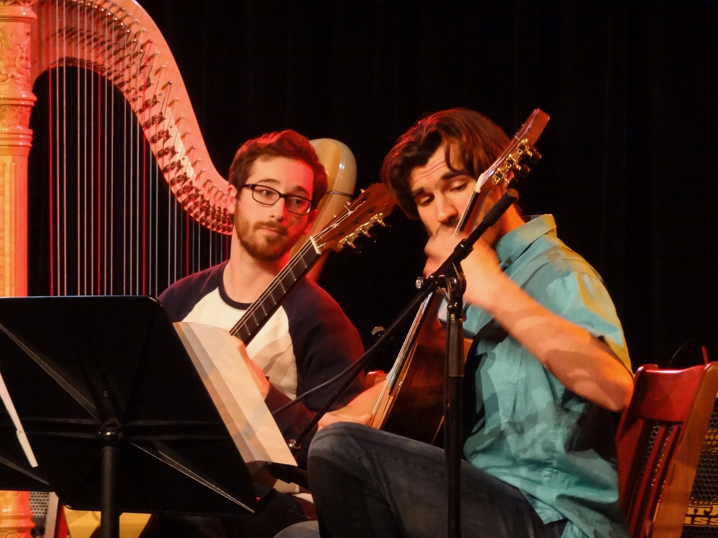 Brian King and Mohit Dubey play Piazzolla