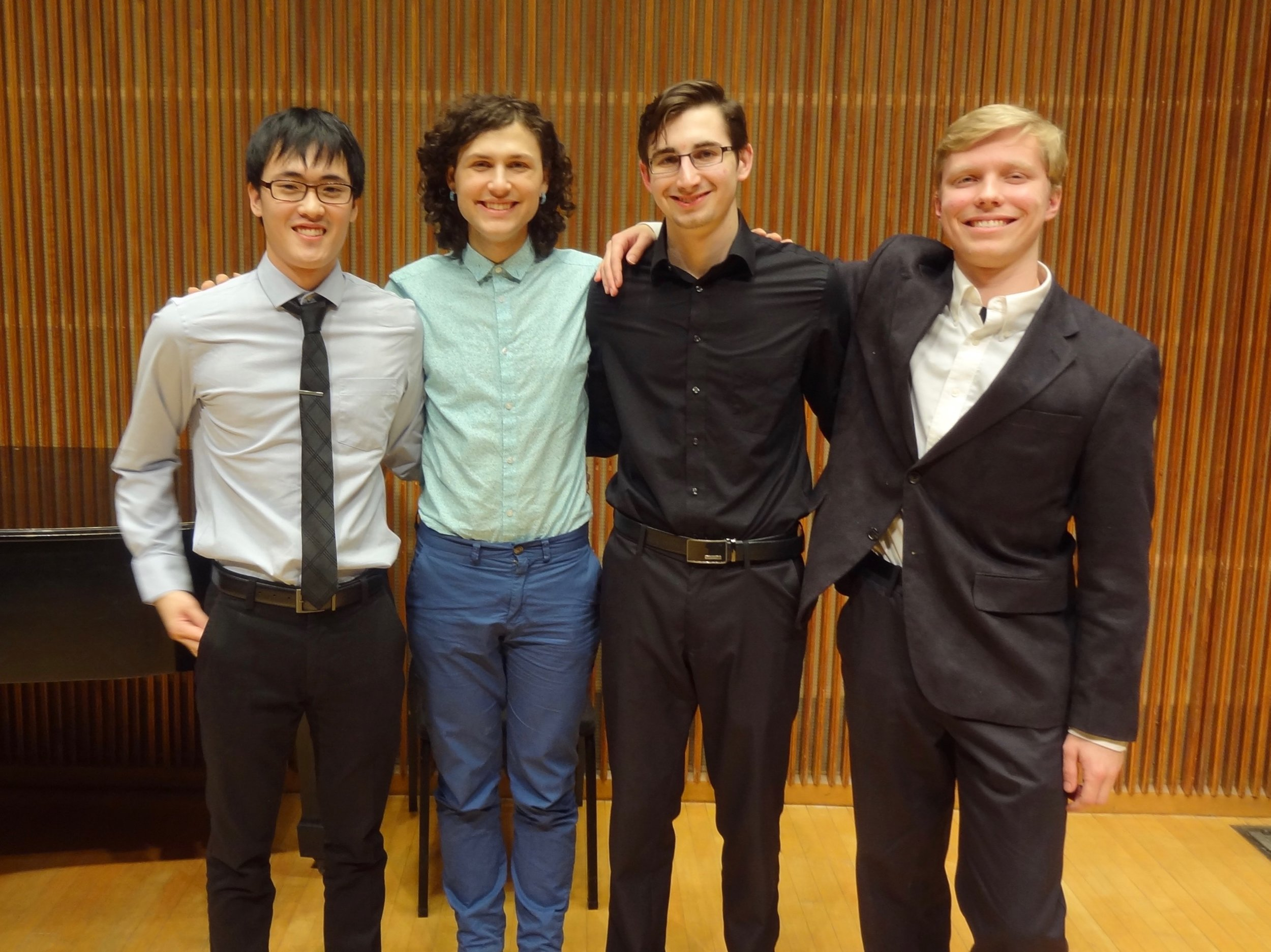 THE WINNERS: Yeram Yoon, Julia Humphrey, Adam Sutorius and Aidan Wiley Lippke