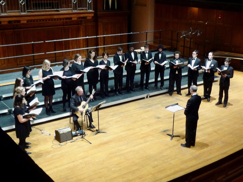 The ensemble plays James Piorkowski's  The Greatest Of These