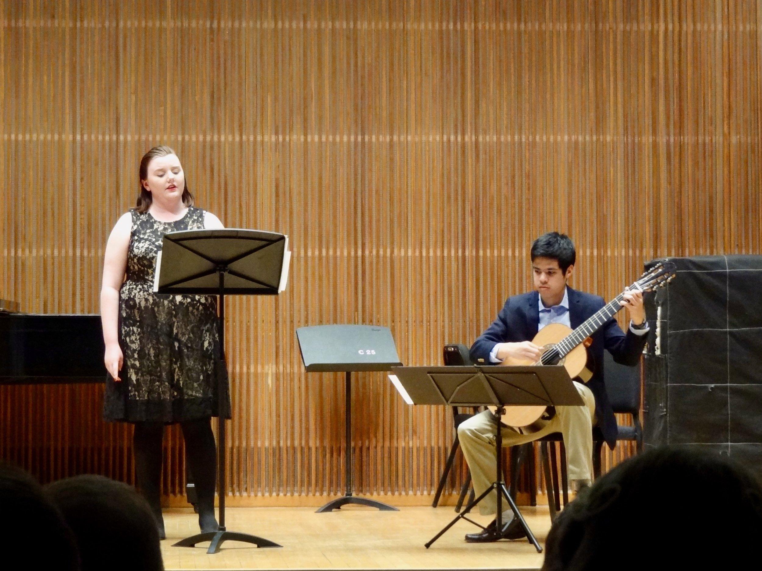 Leisl Quigley sings lieder with Arcangel Velasquez