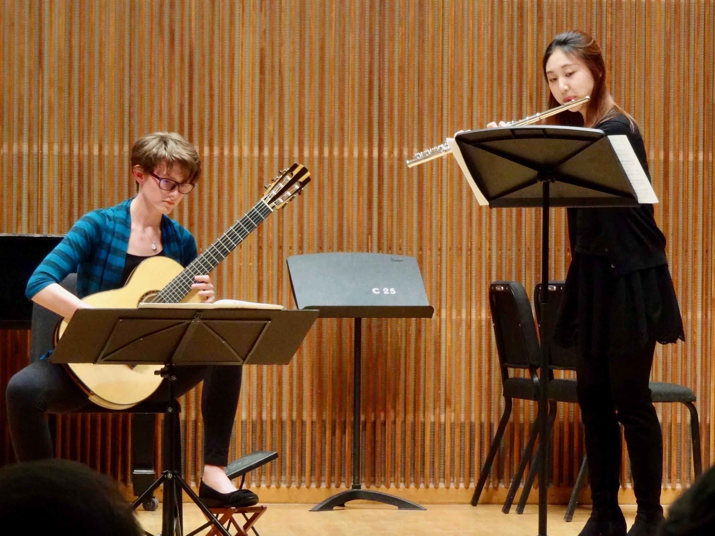 Caeli Massey and flutist Hexin Zhang play French music