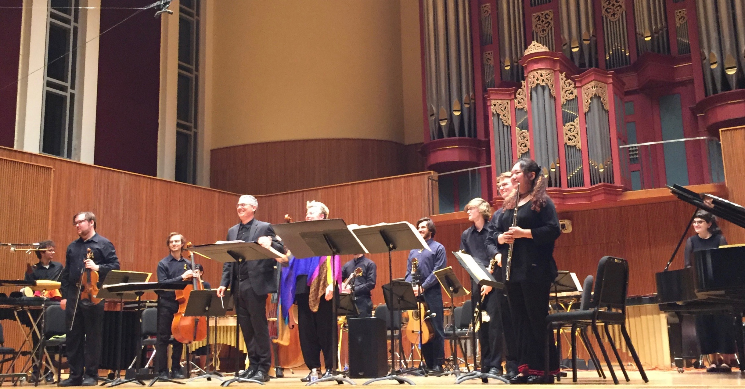 And the bows. My camera missed the composer, Ricardo Zohn-Muldoon, who came onstage for a bow as well.