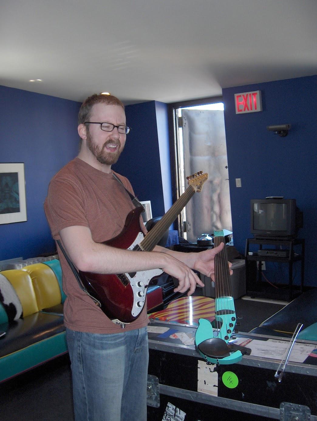 Adam at Mission Sound in Brooklyn, 2005