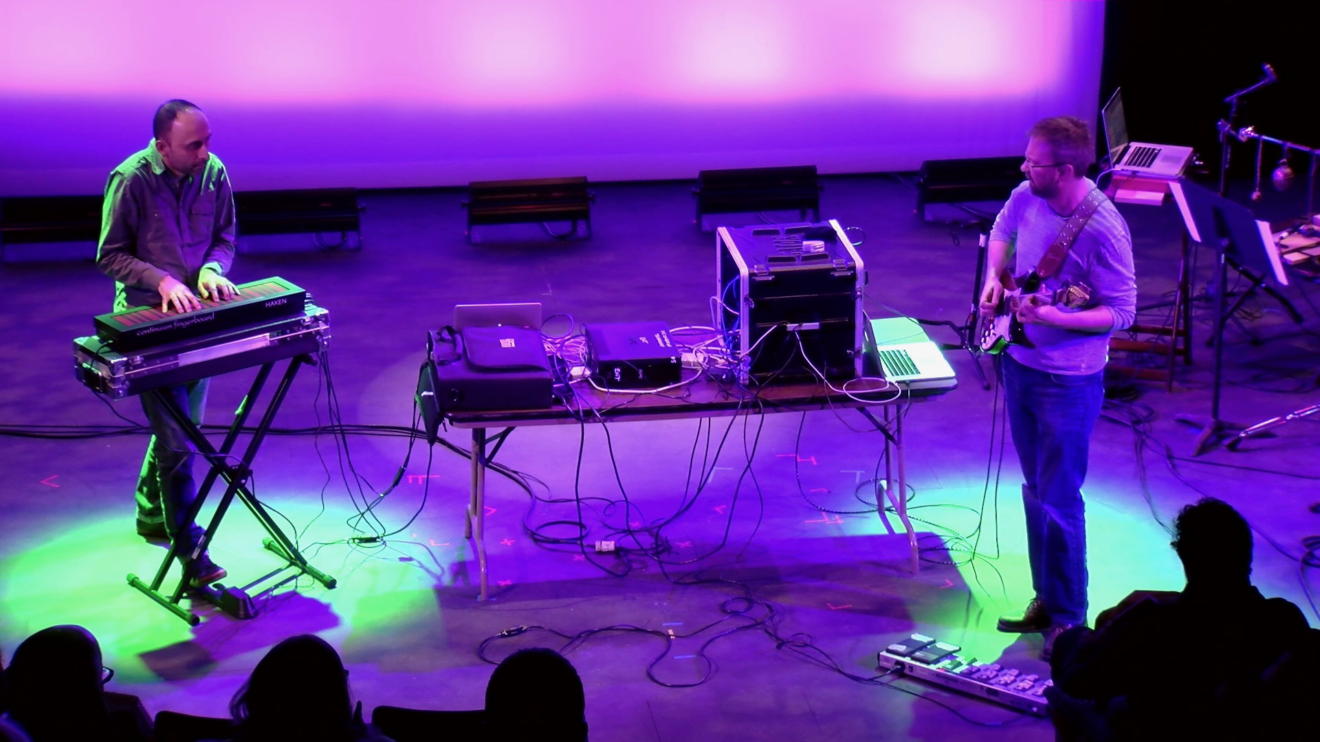 Adam performing with Arto Artinian (on Haken Continuum Fingerboard) at the 2016 New York City Electroacoustic Improvisation Summit