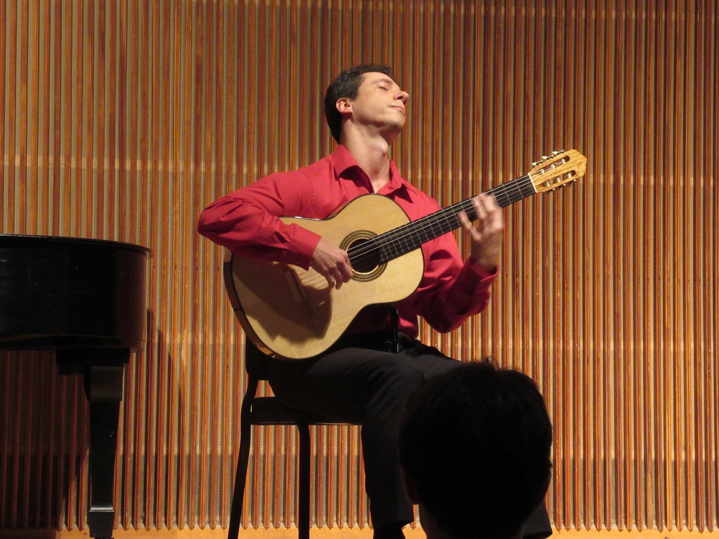 Goryachev plays solo in Kulas Hall at Oberlin.
