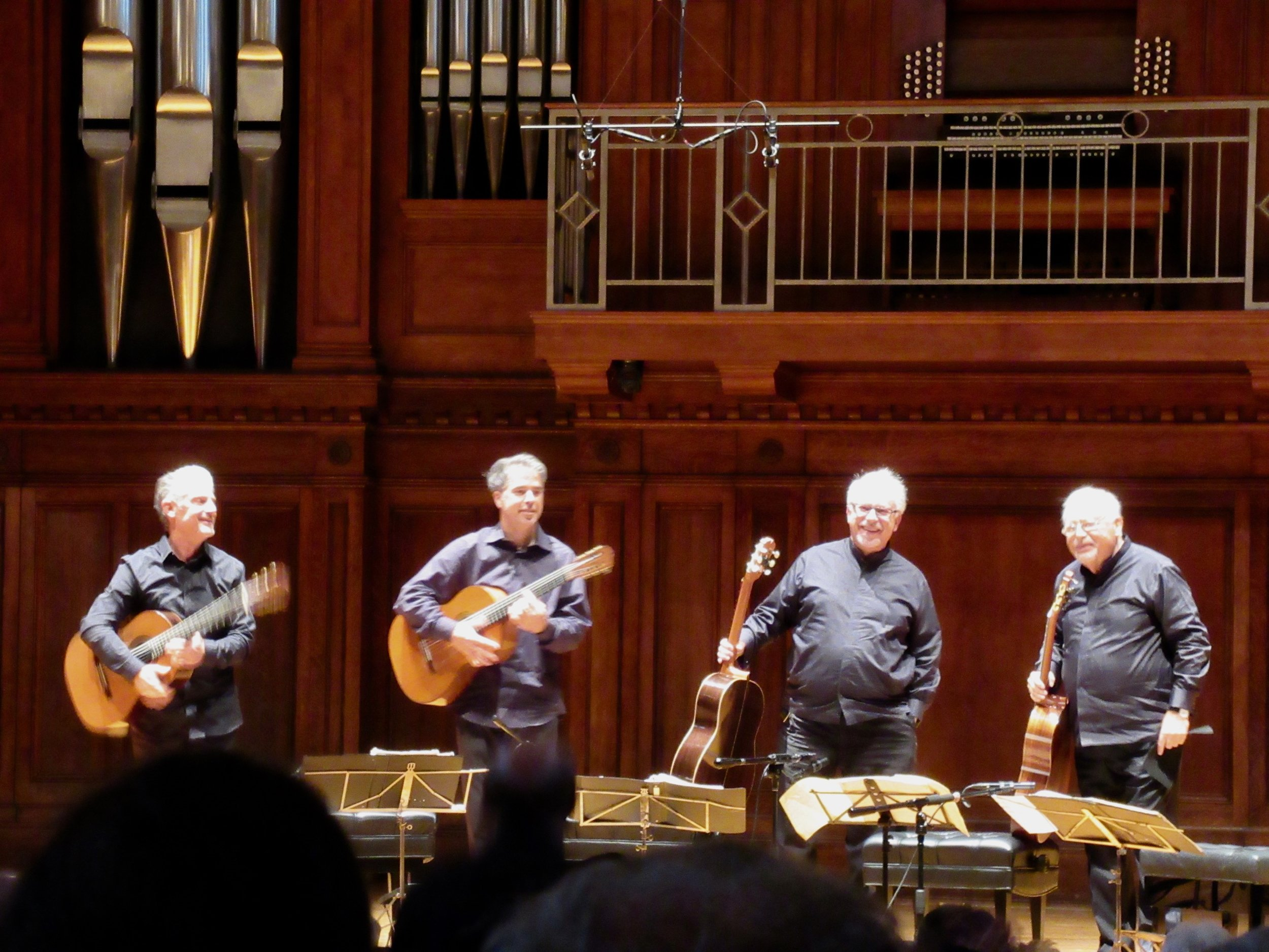 And the quartet responds to the crowd's enthusiasm with two encores.