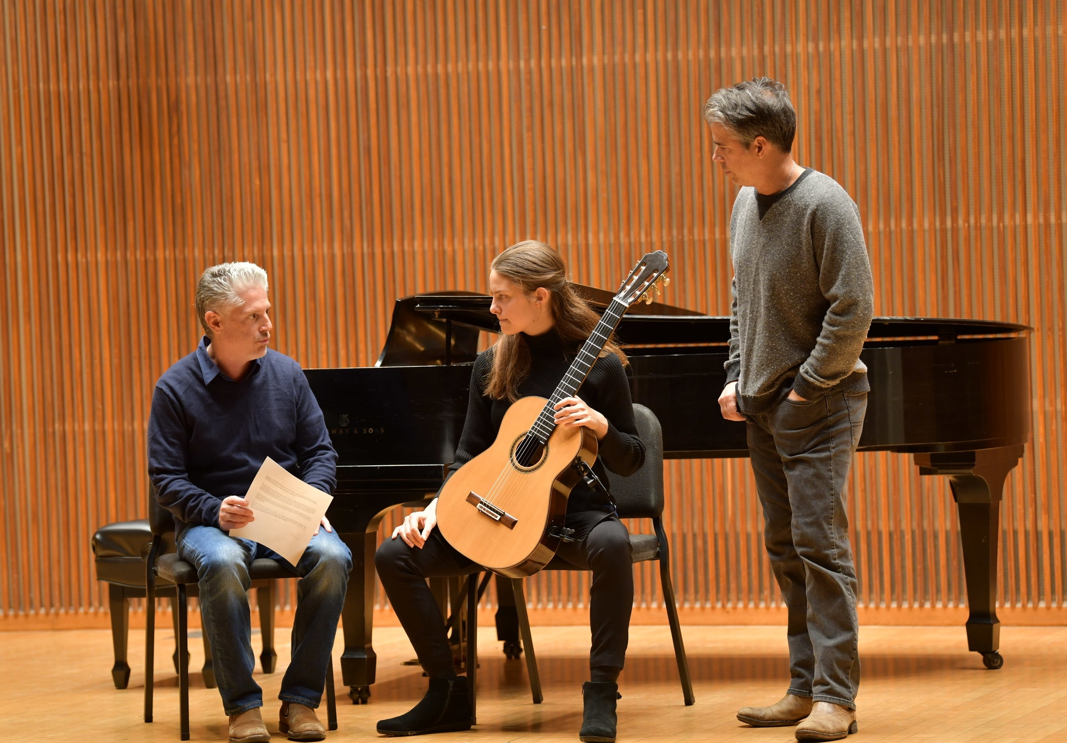 Eliza Balmuth played the first movement from Federico Moreno-Torroba's Sonatina in A