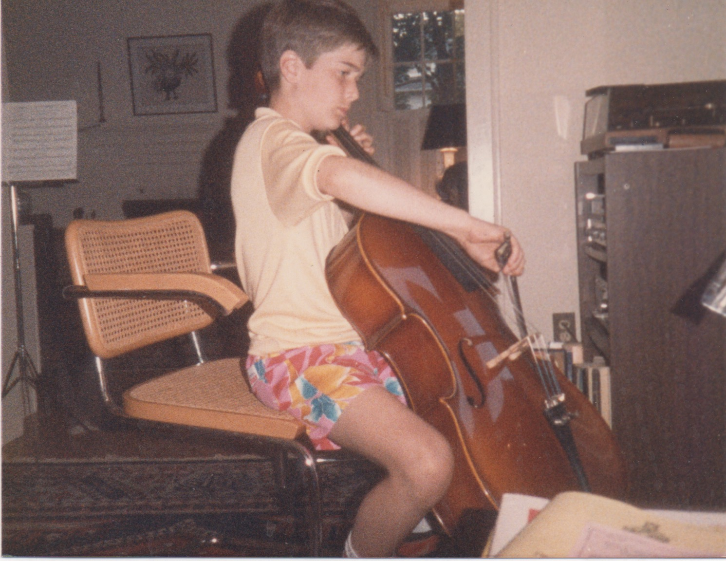 1987 - Washington D.C. I was studying cello and had composed a piece (duo with my brother on violin) for my Dad's 40th birthday