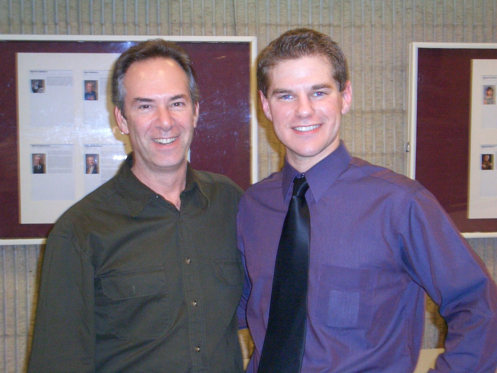 With Stephen Aron after Senior Recital at U of Akron