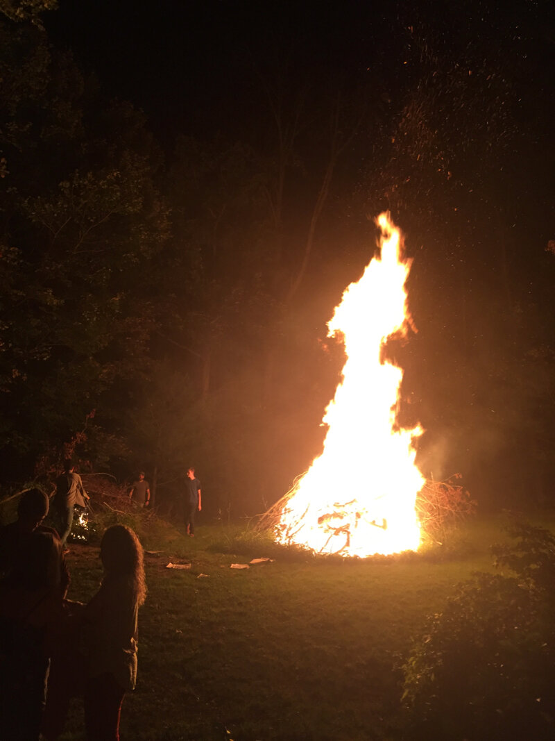The first bonfire is going now….