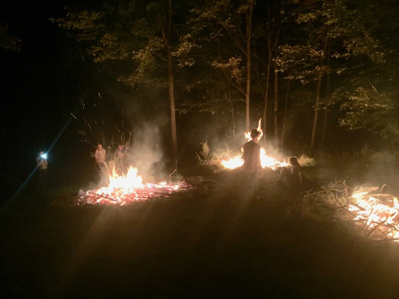 With the fires a bit more tame, we start hanging out in the danger zone, in the middle of the fire triangle