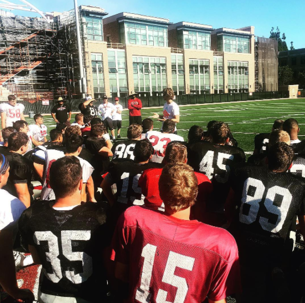 Speaking to my Alma Mater, The Chapman University Football Team