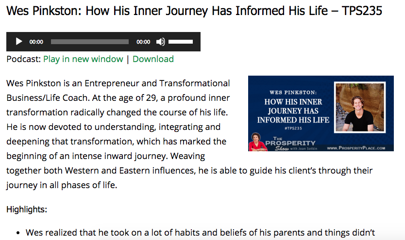 Wes Pinkston: How His Inner Journey Has Informed His Life -