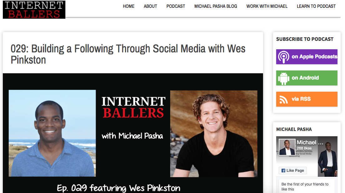 029: Building a Following Through Social Media with Wes Pinkston -