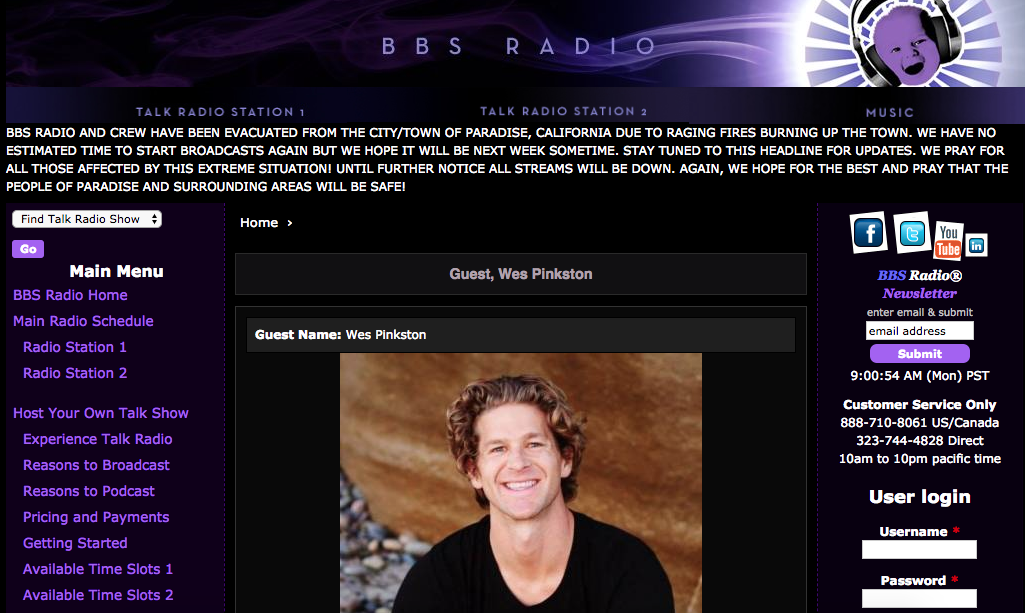 BBS Radio: Guest Wes Pinkston -