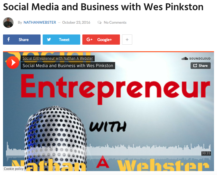Social Media and Business with Wes Pinkston -