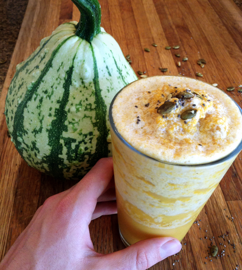 healthy pumpkin spice smoothie and keto smoothie recipe