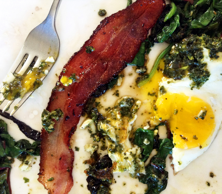 green eggs and ham and keto bacon and eggs for breakfast