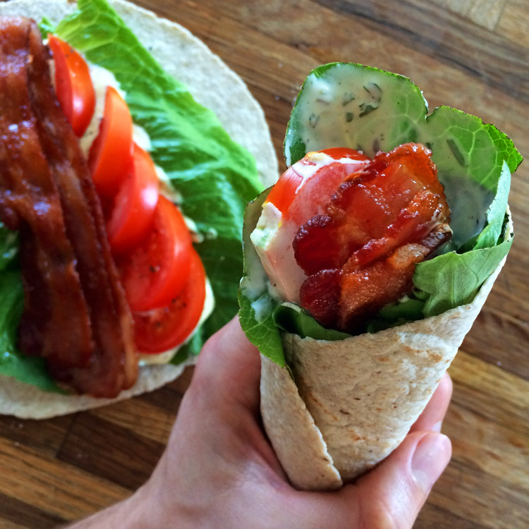 Make a low carb wrap on the keto diet. This keto wrap has low carb ingredients.