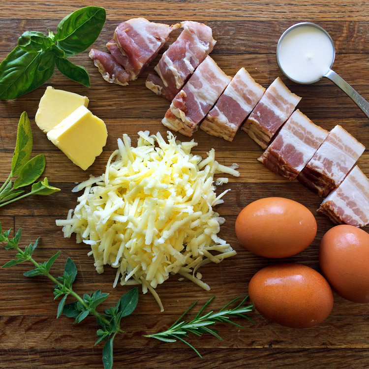 Keto bacon omelette recipe for an easy keto breakfast. Make this meal on the ketogenic diet.