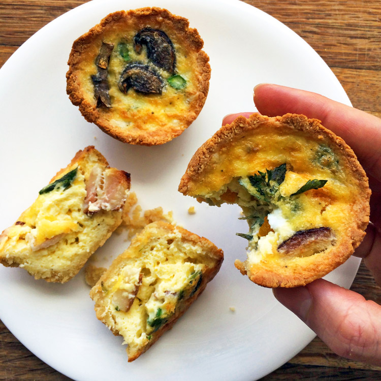 Enjoy mini quiche muffins on the ketogenic diet. Make keto quiche for weight loss and health.