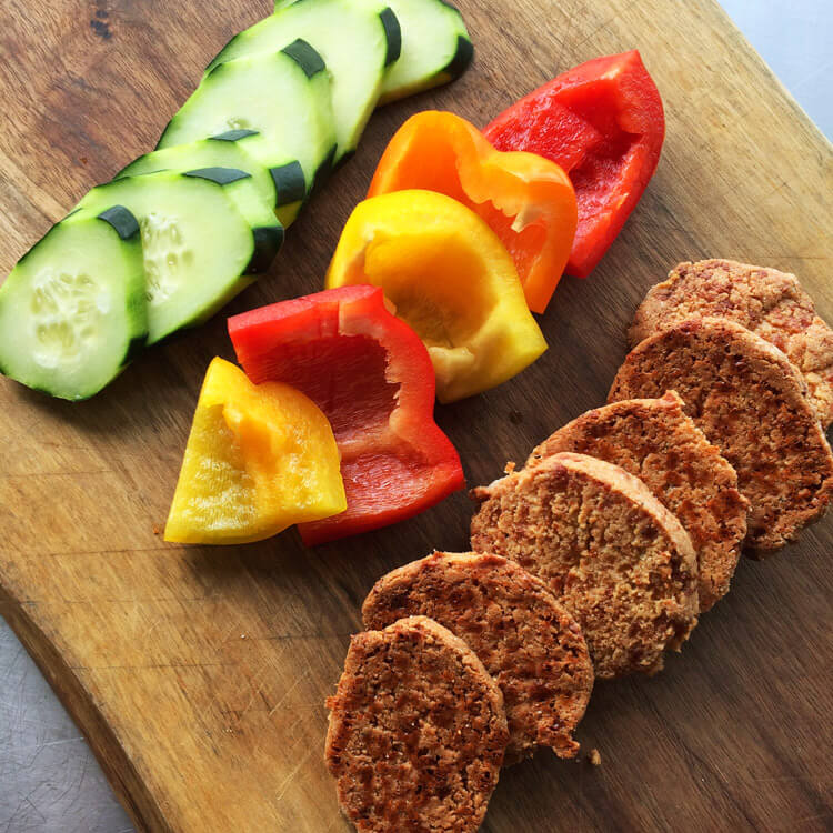 Low carb and easy charcuterie board for the keto diet. Make this recipe with ketogenic cheese crackers.