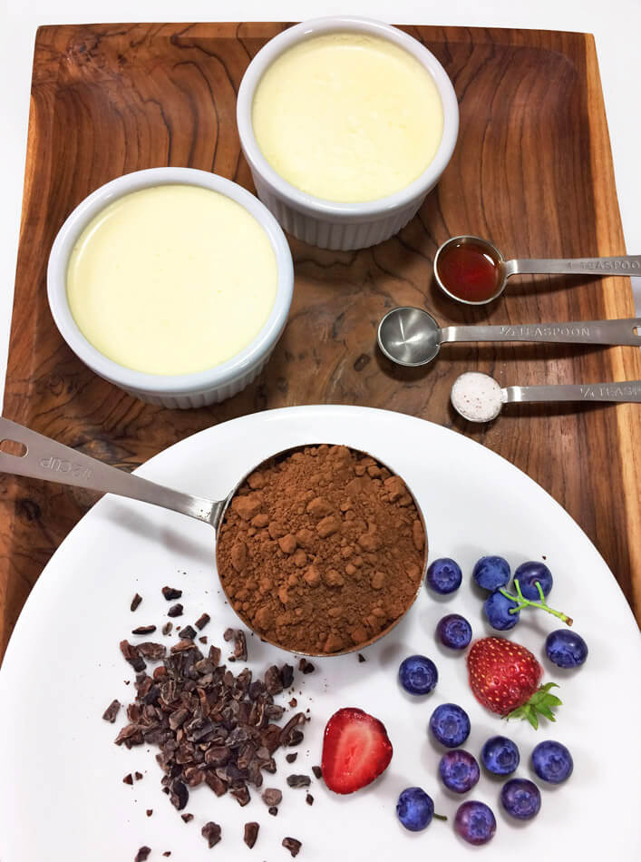 Easy keto mousse recipe for the ketogenic diet. Make this low carb chocolate mousse for dessert.