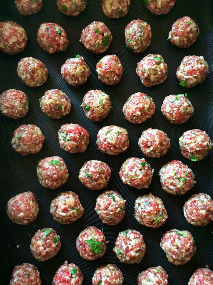 Keto meatball recipe with asian herbs and spices. Make these meatballs for dinner or an appetizer at a party.