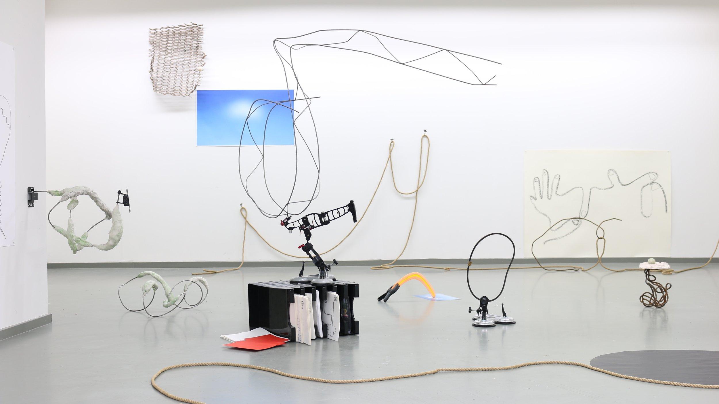 loopholes, exhibition view at jan van eyck academie, maastricht nl, 2018.