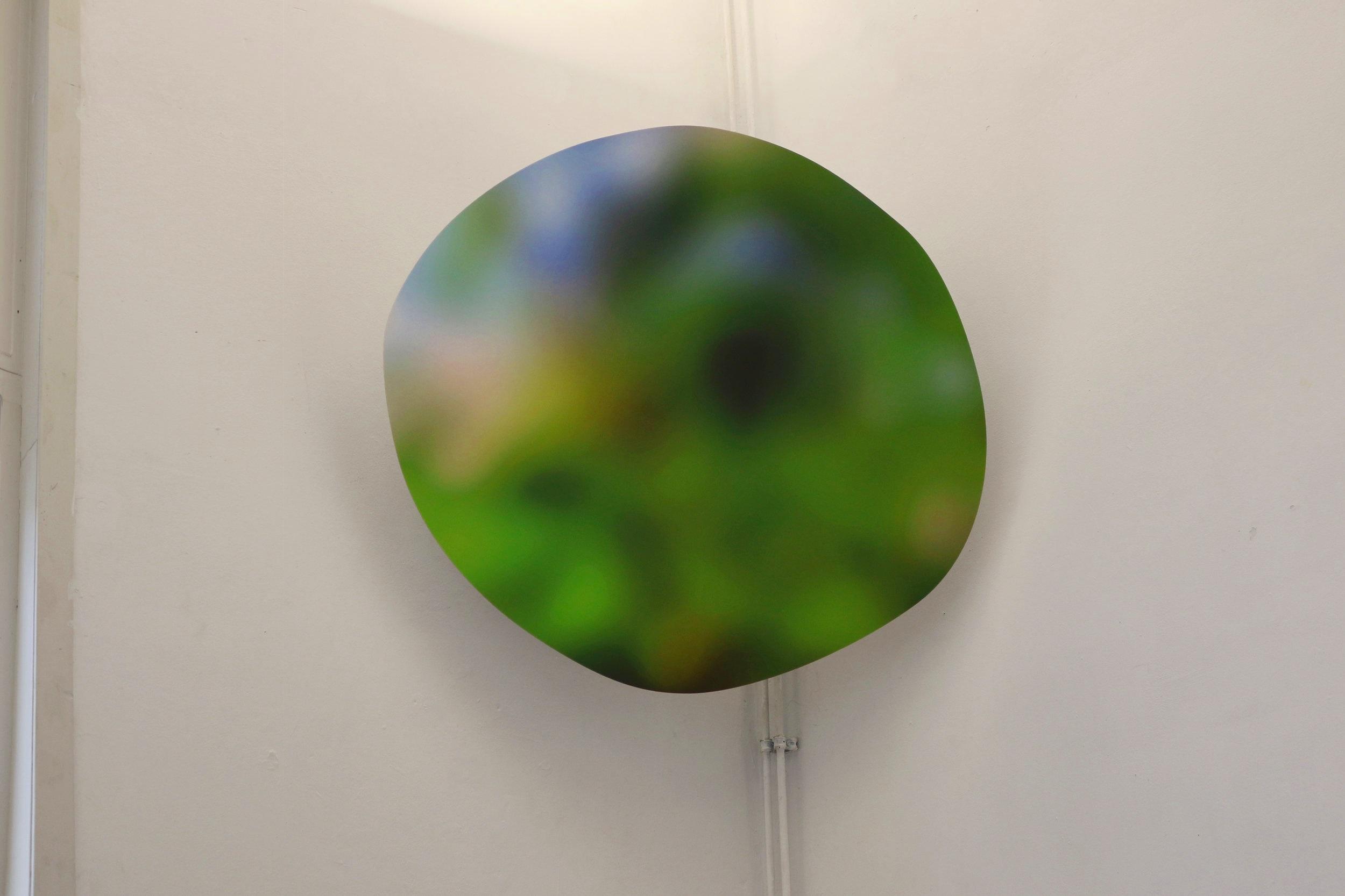 blur, 2019, digital print on forex and screen bracket, 90 x 100 x 60 cm.