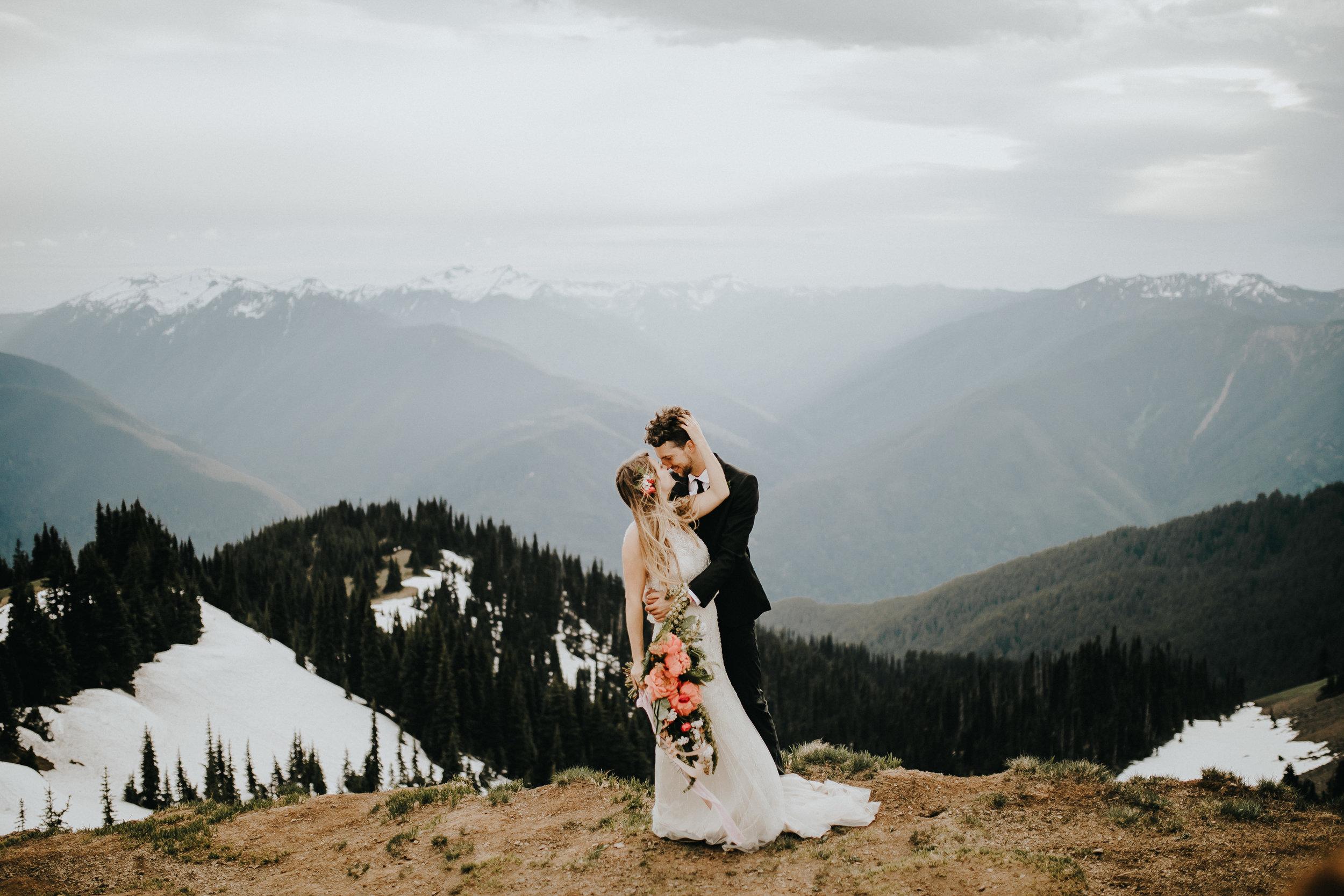 Melissa + Sky//Hurricane Ridge Bridals -