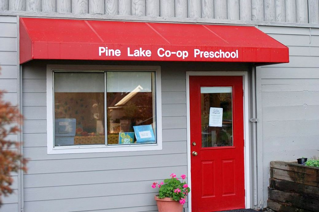Pine Lake Co-op is located in the Pine Lake Community Center – just look for our red awning and bright red door!