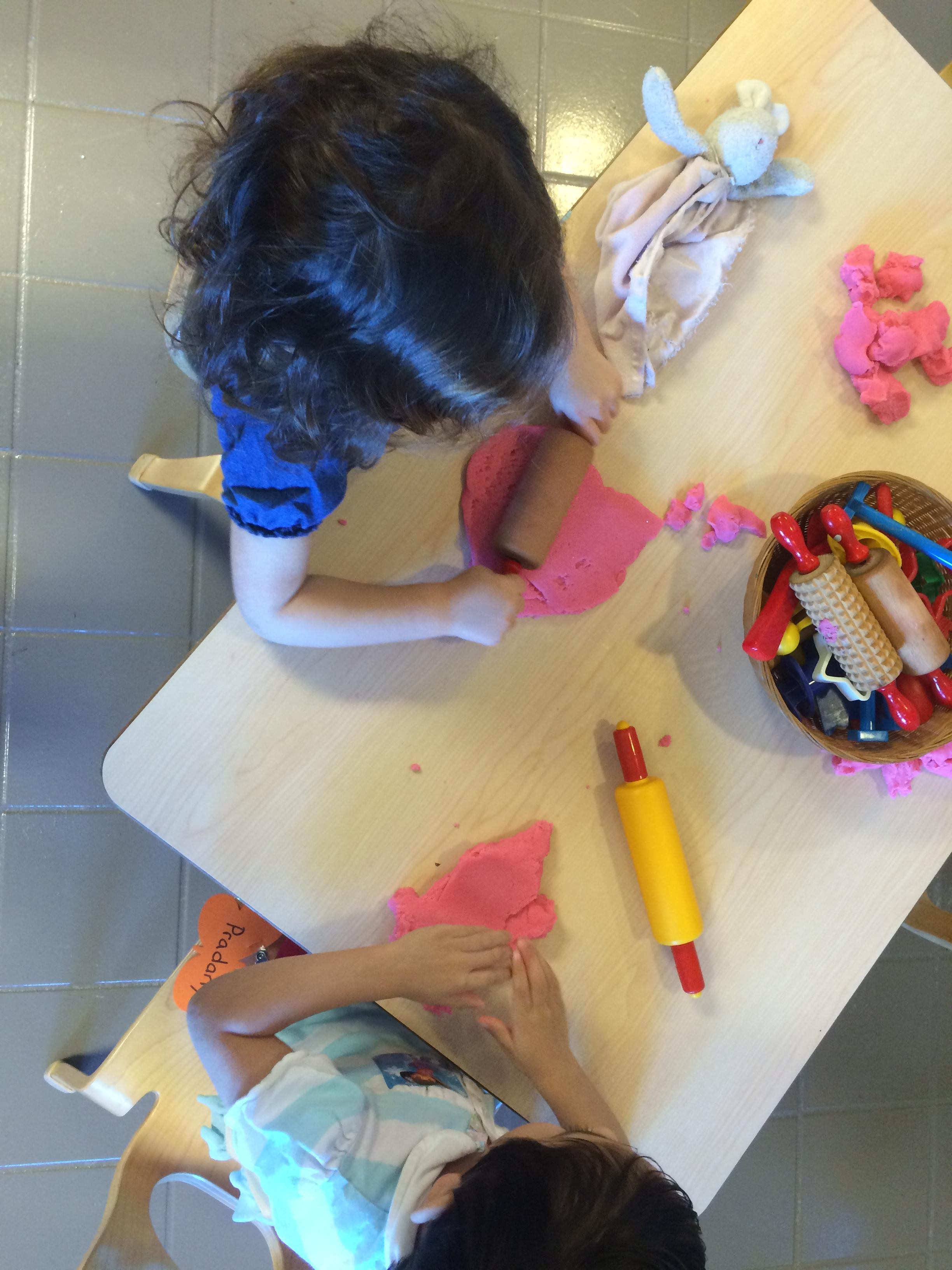 Play dough activities help strengthen little hands and imaginations!