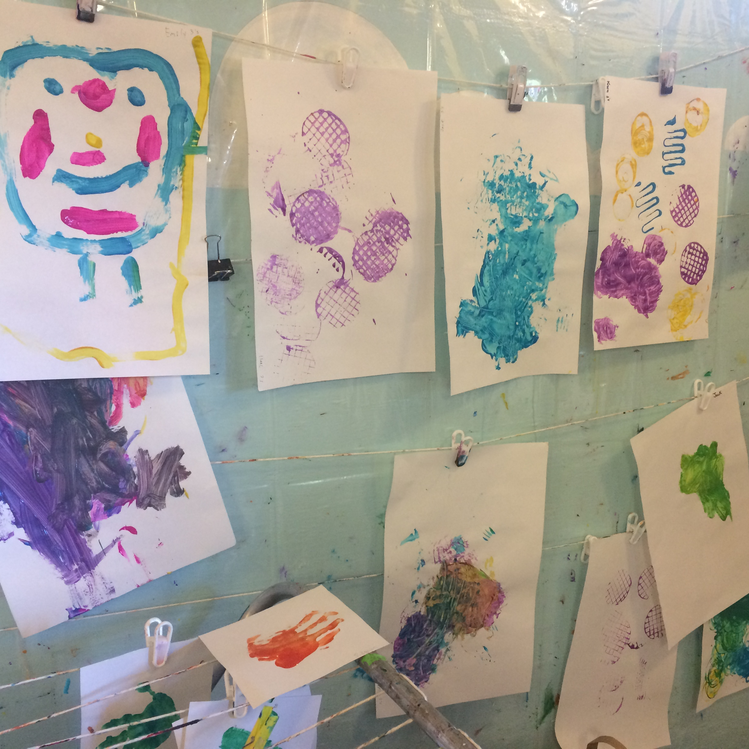 A variety of painting and art activities are available every day.