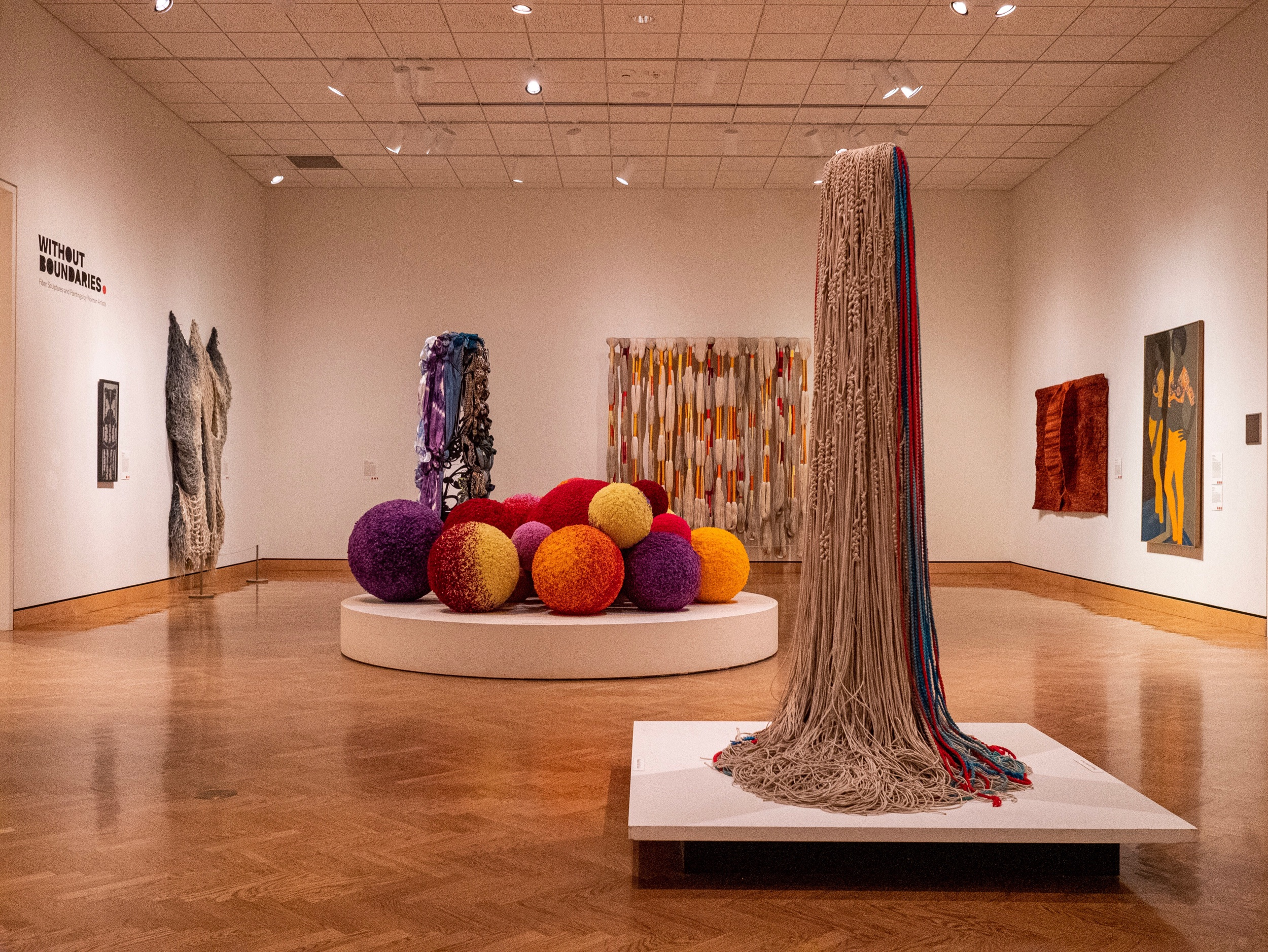 """Without Boundaries: Fiber Sculptures and Paintings by Women Artists"" in Gallery 375"