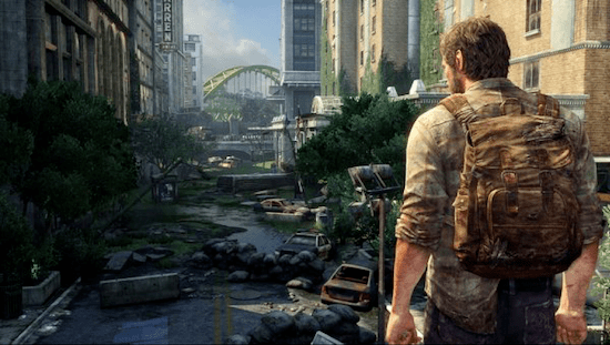 Joel explores the post-outbreak ruins of Pittsburgh. Photo: Eurogamer.