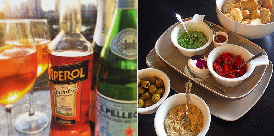 Aperol Spritz cocktail | Crostini