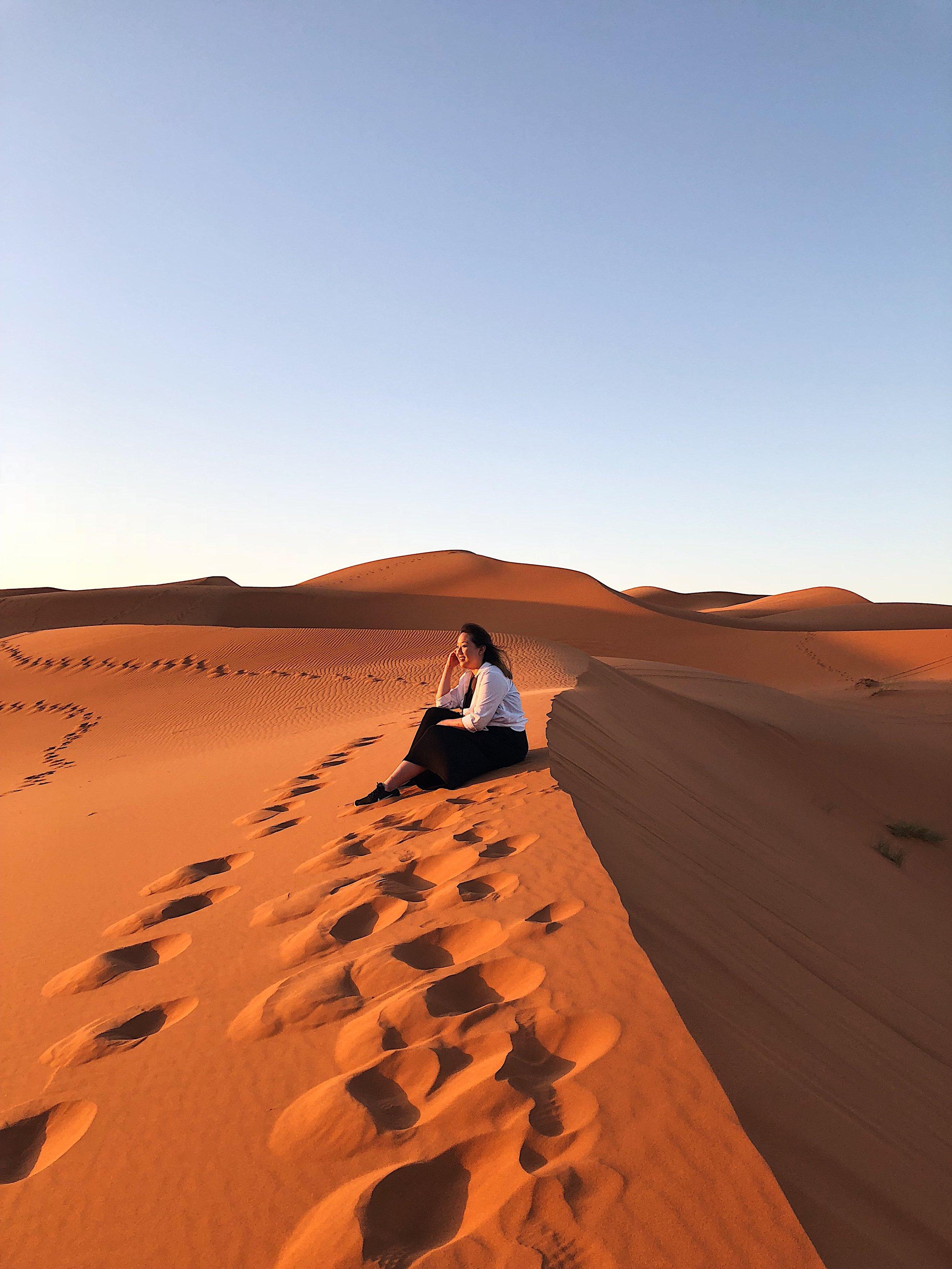 Merzouga, Sahara Desert  (sunrise)