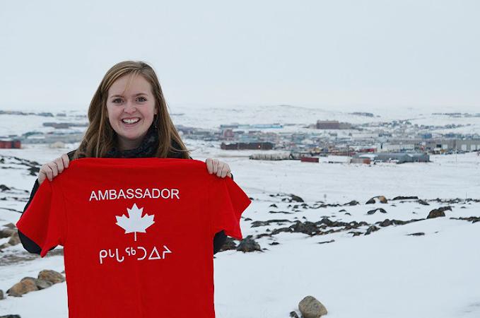 YCRH member Hannah Hill as The Sandbox Project's representative at the Arctic Youth Ambassador Summit