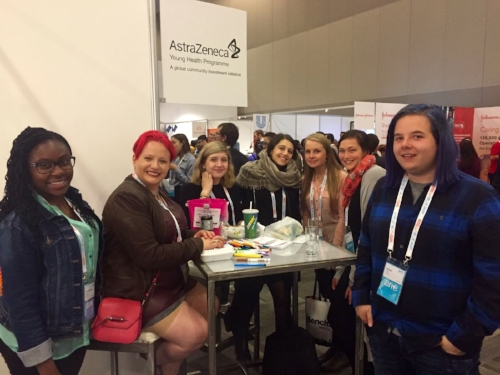 L-R: Akosua Bonsu, Alicia Raimundo and Alyssa Frampton (YCRH); Jessica Stepic (Santis Health); Brandy Dewar (PHE Canada); Danielle McVicar (Canadian Diabetes Association); Will White (YCRH)