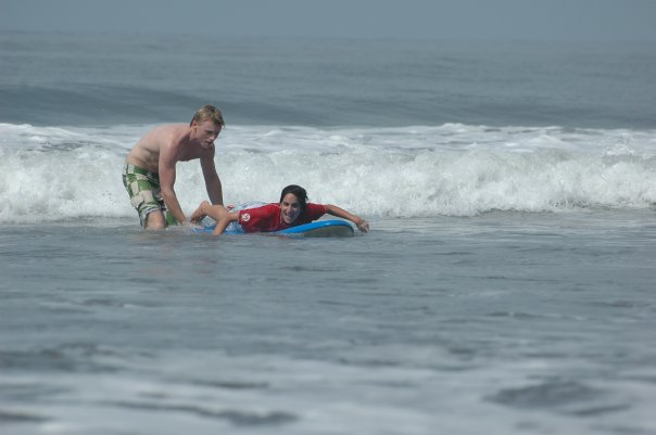 Surf Guide Mike with student