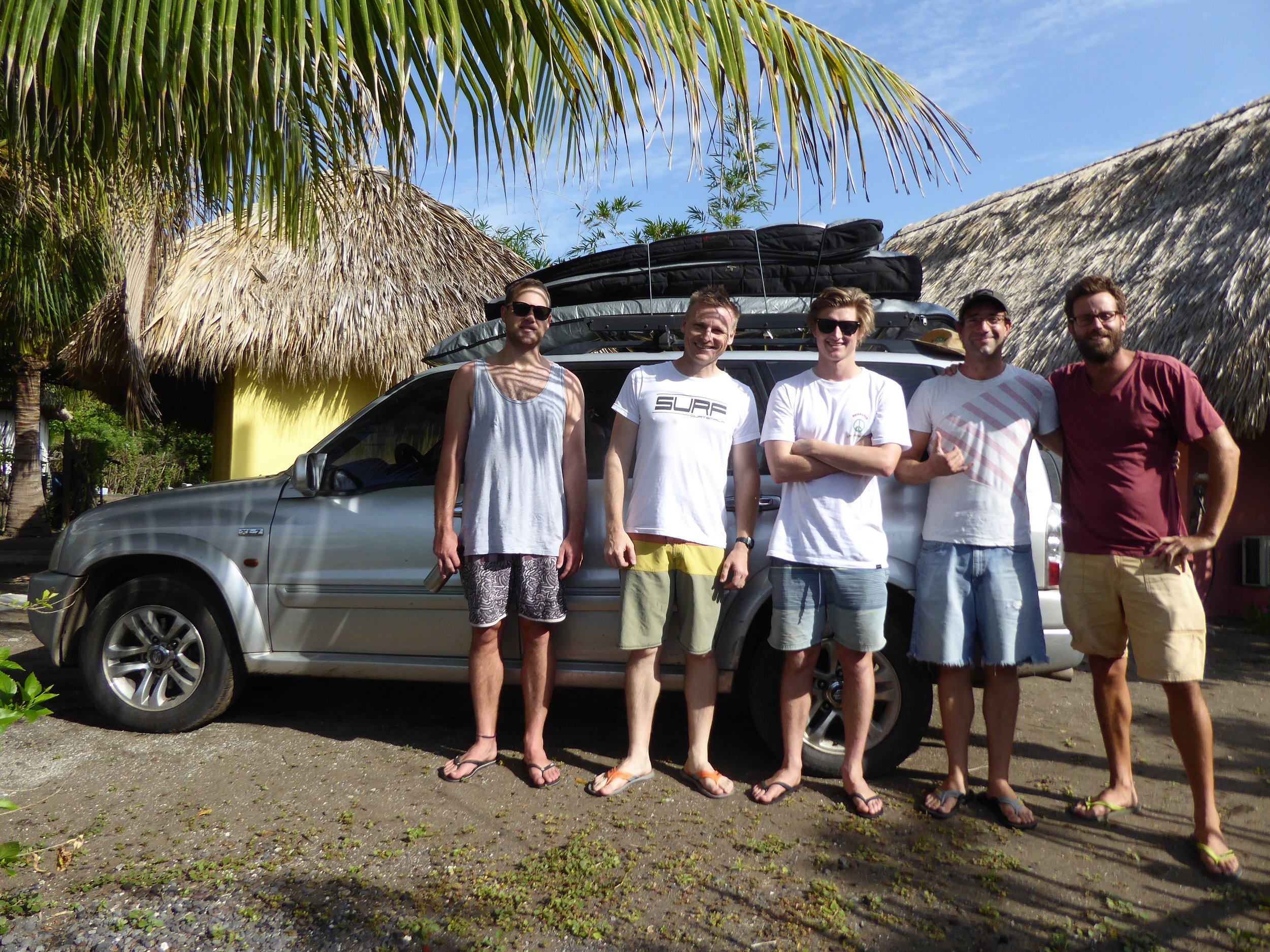 Mike and group of surfers - El Paredon, Guatemala