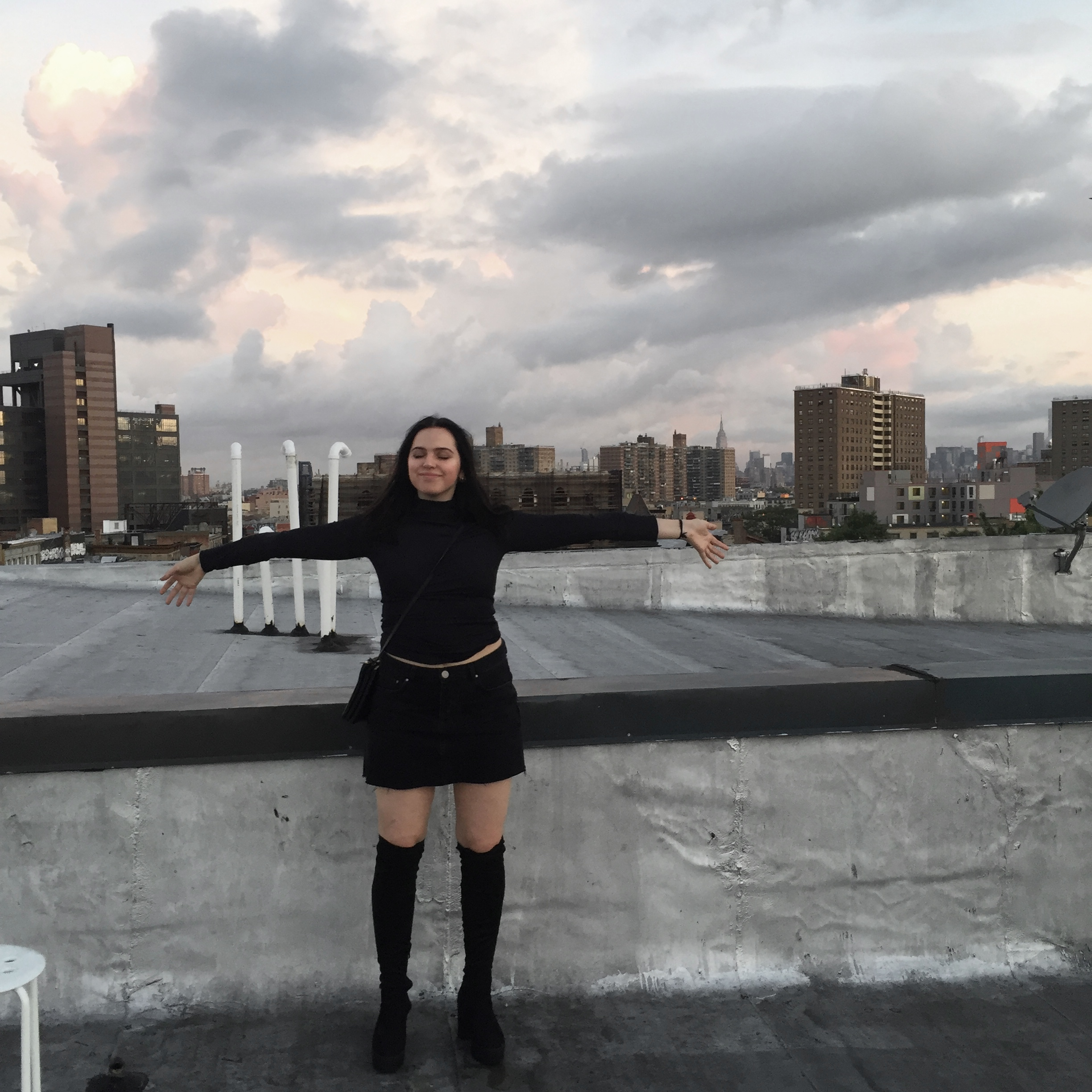 this was taken at 6 am on my best friend's rooftop after a night out with close friends, we watched the sunrise and it became one of my favourite memories.